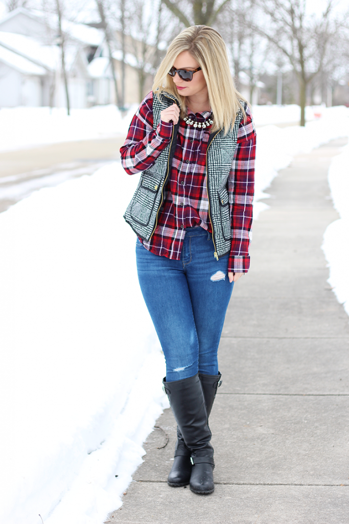 Saturday Style vol. 4 - Plaid Shirt and Herringbone Vest