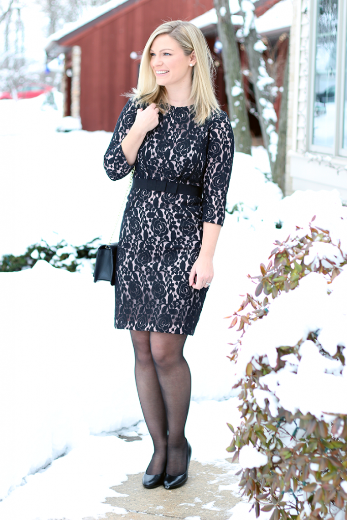 Saturday Style vol. 5 | Blush and Black Lace Cocktail Dress