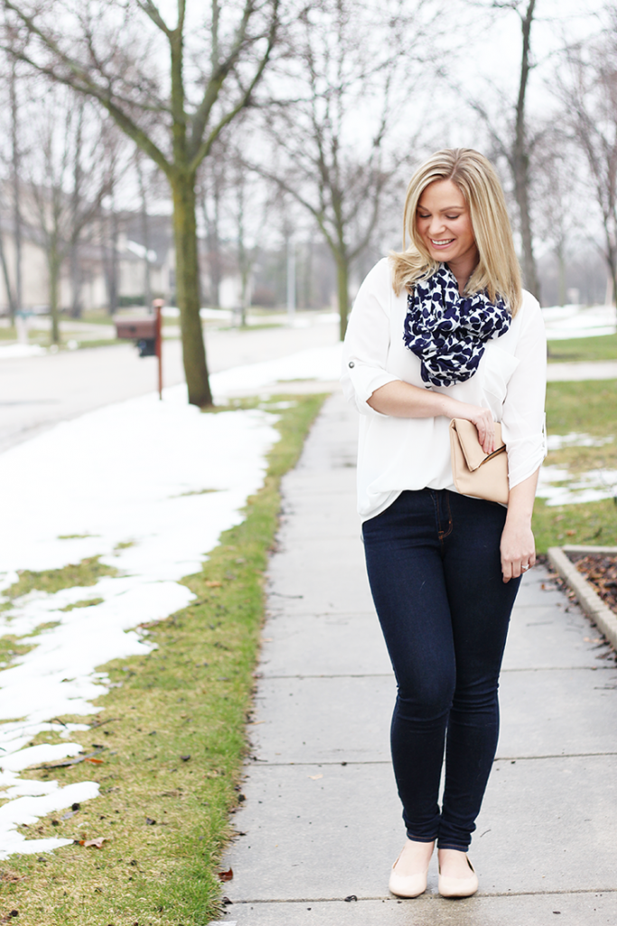 casual spring outfit with Nordstrom lush tunic